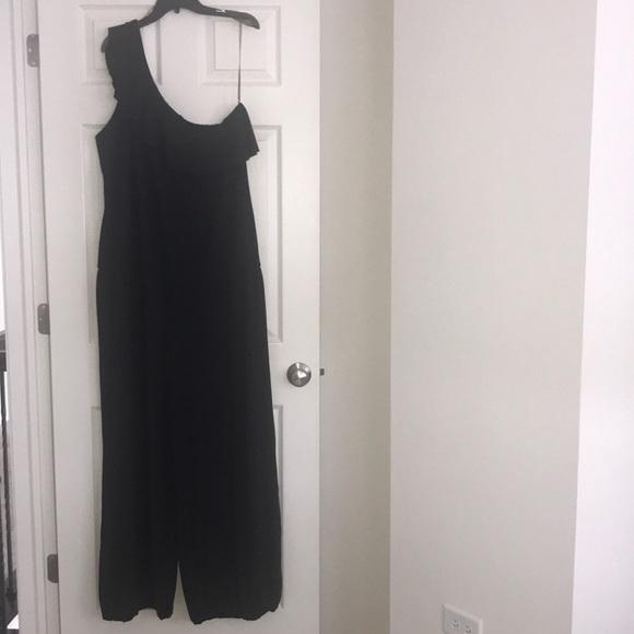 c877ade11f7b Dots Other - Black jumpsuit plus size 3x ploy spandex material